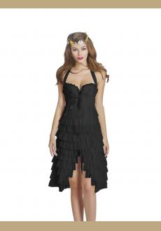 New Fashion Sexy Corset Overbust Mini Skirt Halloween Fancy Dresses