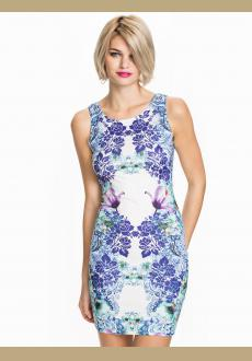 SLEEVELESS PRINTED DRESS