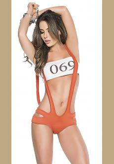 GUILTY PLEASURES PRISONER LINGERIE COSTUME