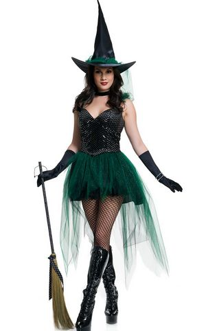 Emerald Witch Costum...