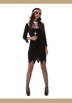 halloween bloody women costume,accessory:headwear.the stocking is not included.