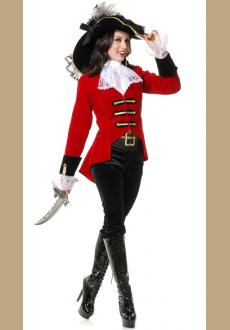high quality women pirate costume,it comes with hat,coat,neckwear,panty