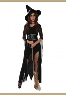 halloween witch costume,accessory:hat,belt