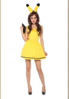 sexy pikachu dress costume,accessory:headwear
