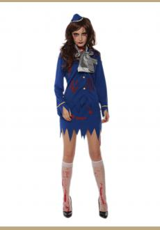 Fancy halloween cosplay stewardess costume