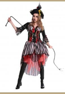 Women Halloween Party Pirates of the Caribbean Fashion Of Clothing Dresses Women Pirates Costume