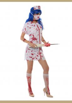 halloween zombie nurse costume,it comes with headwear,dress