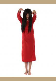 red Japanese scary movie Sadako costume