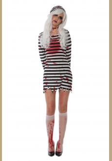 cosplay halloween infected prisoner costume,it comes with hat,dress