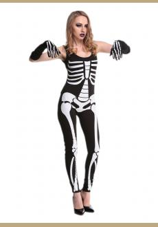 skeleton halloween costume catsuit