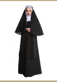 sexy hood nun costume,it comes with hood cape,dress