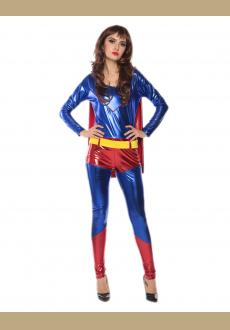 cosplay supergirl catsuit costume,it comes with bodysuit with cape
