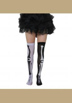 arty pskeleton socks costumes accessories adult socks, Yin and Yang are black and white socks