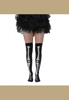 Prom dress accessories printing skeleton stockings vampire Halloween socks