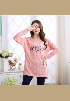 Women 's new autumn long sleeved pajamas autumn 2016 korean women' s double - sided cotton pajamas