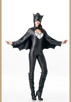New Black Leather Halloween Uniform Cosplay Costume For Women