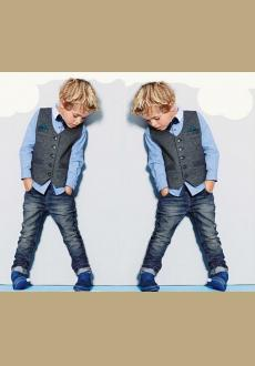 Wholesale europe and the academic handsome boy gentleman cowboy children's clothes