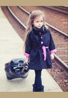 Europe and the United States style children coat wholesale new jacket of the girls long sleeved cardigan cothing