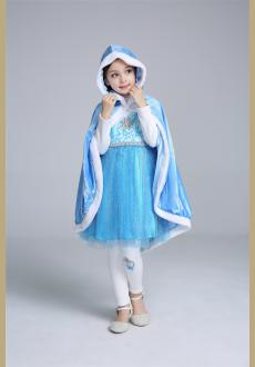 Wholesale girl cape children s princess dress shawl wool thickening clothing
