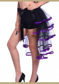 Ladies 5 Layer Showgirl Burlesque Costume Corset Party Petticoat Tail Tutu Skirt