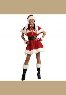 Velvet SEXY MISS SANTA Outfit Christmas Costume