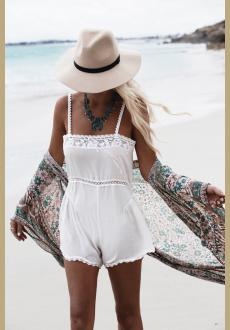 Floral Chiffon Beach Cover Up For Women