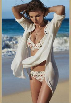 Polyester Long Sleeve Beach Top