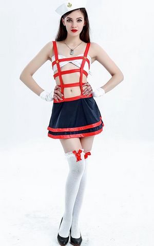 Hot White Red Sailor...