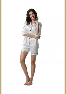 With padding sexy v neck women summer leisure wear pajamas