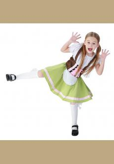 Girl Dress For Halloween Costumes German Beer Festival Clothing Maid Outfit Waitress Role Playing Game Uniforms