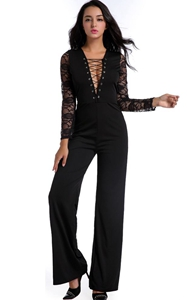 Black Lace Long Slee...