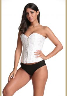Fashion Womens Brocade Underbust Boned Corset Waist Trainer Shaper