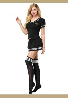 Women Sexy sailor suit Girl's Cosplay Student Uniform  Football Cheerleader costume,SMLXL2XL4XL,with Stocking