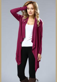 Asymmetric Neck Casual Cardigans