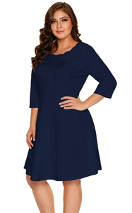 Navy Scalloped Neckl...