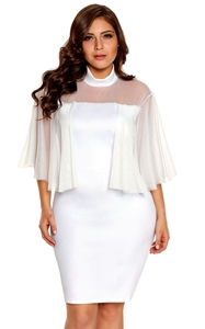 White Plus Size Semi...
