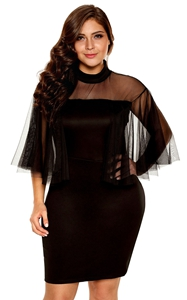 Black Plus Size Semi...