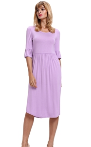 Purple Ruffle Sleeve...