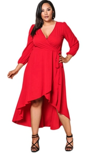 Red Ruffle Wrap Plus...