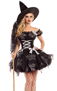 Adult Witch Costume Halloween Witch Dress Costumes For Women