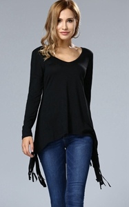 Casual Deep V-Neck F...