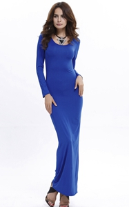 Bodycon Scoop Neck L...