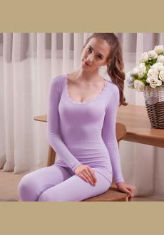 Women's Long Thermal Underwear Fleece Lined Winter Base Layering Set