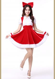Christmas Costume Party Sweetheart Miss Sexy Adult Women Halloween Santa Cosplay Dress Cute Festival Suit Mini Ladies M