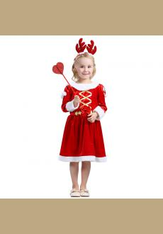 Santa Clause Christmas Fancy Dress Outfit Red