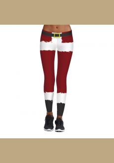 Women's Funny Stripe Printed Pattern Christmas Leggings Ankle Length