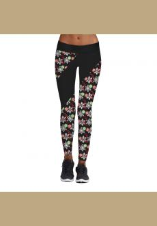 Women's Digital Polka Dot Print Christmas Active Workout Leggings Pants