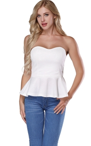 Women Peplum Tops Sl...