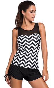 Black White Zigzag P...