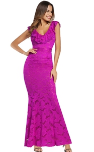 Long Lace Prom Dress...